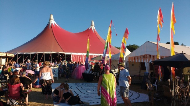 Wickham Festival 2018 - Elemental Tent with Labyrinth